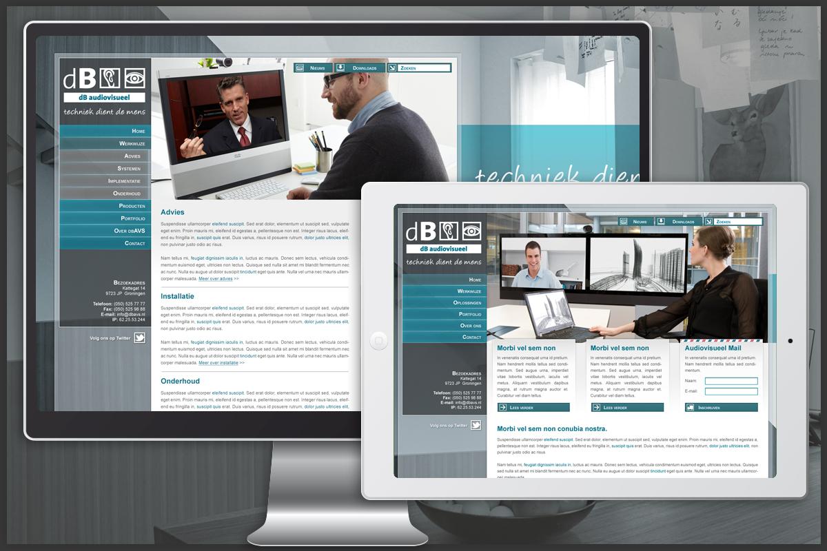 WordPress website concept