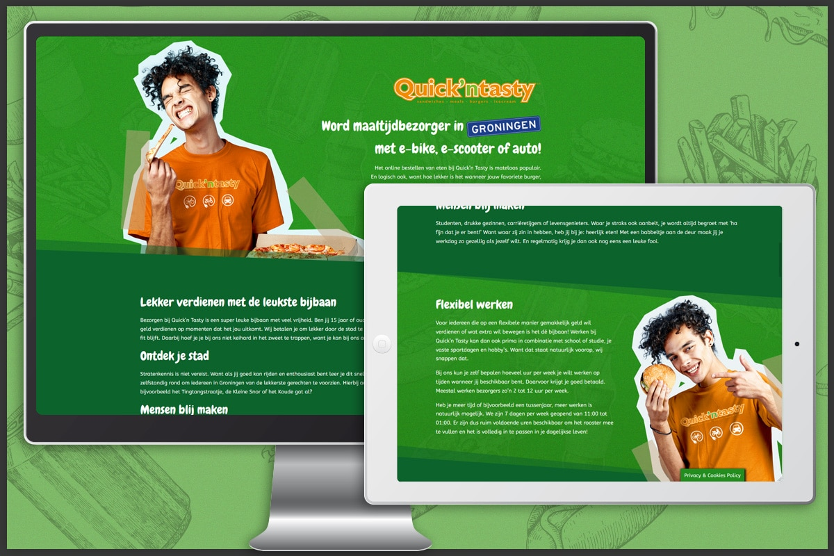 Quick'n Tasty Personeelscampagne - WordPress