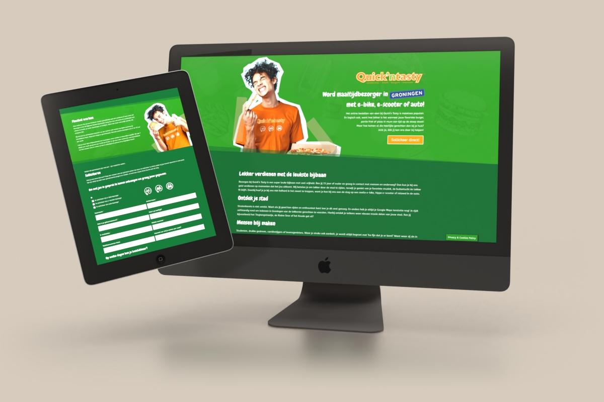 Campagnesite personeelswerving (WordPress / DIVI) - Quick'n Tasty