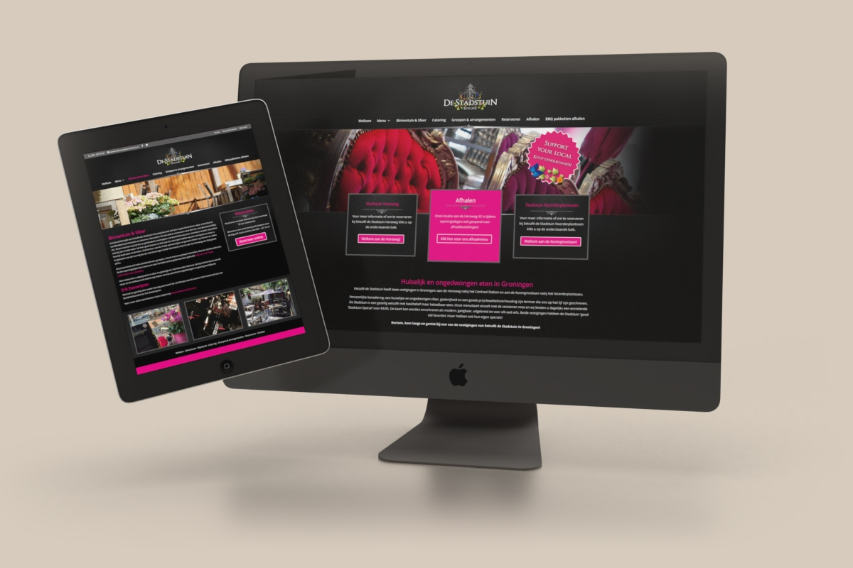 WordPress website (DIVI) Reserveringen / MailChimp - Eetcafé De Stadstuin