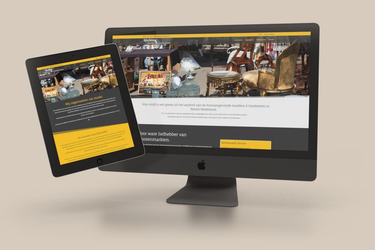 WordPress website, agenda (DIVI) - Markten Noord-Nederland