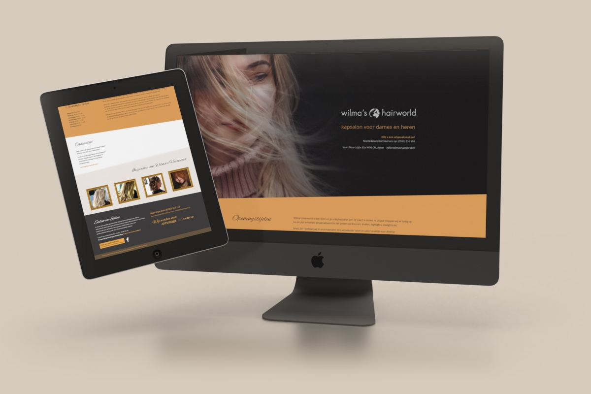 WordPress website (DIVI) - Wilma's Hairworld